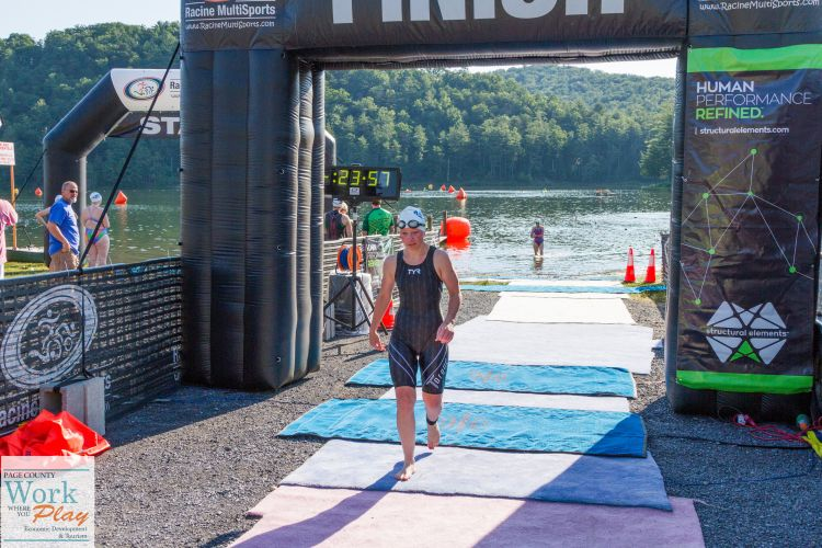 Swim Fest at Luray-Finish-CBC athlete Ally D.